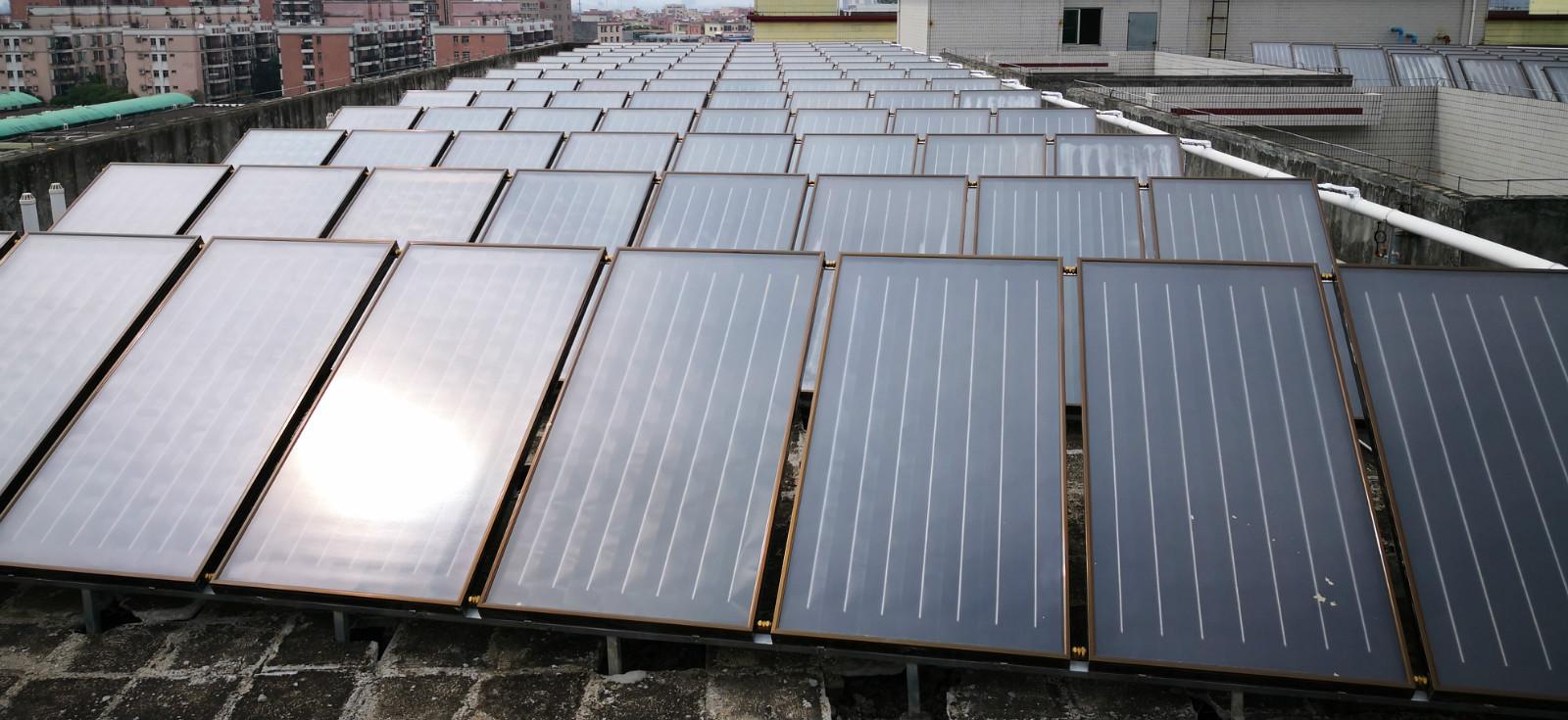 工厂热水工程,太阳能热水器